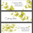 Spring illustrations - set — Stock Photo