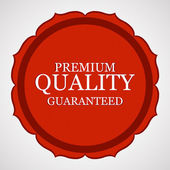 Premium quality guaranteed red vector sticker — Stock Vector
