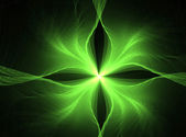Fractal art - green background — Stock Photo