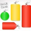 Vector sale tags - different shapes and colors (set 2) — Stock Vector #26355855