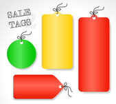 Vector sale tags - different shapes and colors (set 2) — Cтоковый вектор