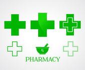 Pharmacy symbols - vector — Stock Photo