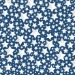 Christmas background- stars on blue — Stock Vector