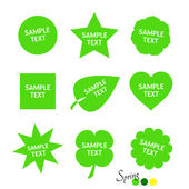 Springcolors - simple stickers — Vector de stock