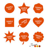 Autumnal colors - simple stickers — Stock Vector