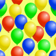 Colorful balloons seamless party pattern — Stock Vector #33139821