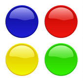 Colorful vector buttons isolated — Stock Vector