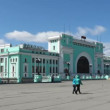 Stock Video: Novosibirsk, Russia, Central Station