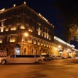 Stock Video: St. Petersburg, Grand Hotel Europe and limousine at White nights