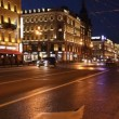 Stock Video: St. Petersburg, Nevsky Prospekt in White nights