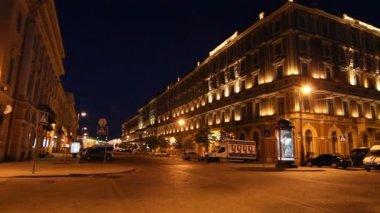 St. Petersburg, Panorama of The Grand Hotel Europe at White nights — Stock Video