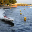 Twenty-four-hour motor boat race in St. Petersburg, Russia — Vídeo Stock #14090751