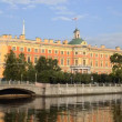 St. Petersburg, The Mikhailovsky Palace in summer - Stock Photo