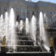 Stock Video: St. Petersburg, Peterhof, Cascade of Fountains