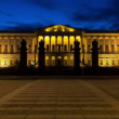 Stock Video: RussiMuseum in White Nights