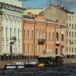 Historic houses along the Moika River, St. Petersburg, Russia — Stock Video #14816057