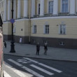 Stock Video: St. Petersburg, Tourist attractions by Tour Bus