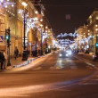 St. Petersburg, Traffic on Nevsky street at night — Stock Video #14817625