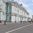 St. Petersburg, View of the Hermitage on a summer day — Stock Video