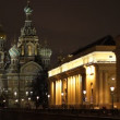 St. Petersburg, The Savior on the Spilled Blood at night — Stock Video