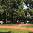 St. Petersburg, Panorama of the Summer Garden, refurbished in 2012 - Stock Photo