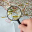 Stok video: Finding Napoli on map
