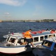 Stock Video: Tour ship Crew prepares to sail, St. Petersburg, Russia
