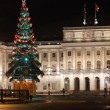 Stock Video: St. Petersburg, Building of Legislative assembly of St. Petersburg at night