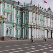Stock Video: St. Petersburg, Panoramof State Museum Hermitage in summer