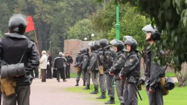 Riot Police before the Meeting in Russia — Stok video