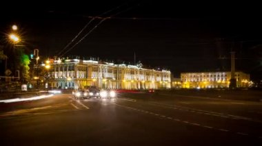 St. Petersburg, Traffic on a busy city street — Stok video