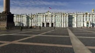 St. Petersburg, The Hermitage Museum und Palace square — Stock Video