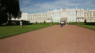 Panoramic of The Imperial Palace, Tsarskoe selo, St. Petersburg, Russia — Stock video