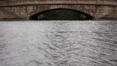 Old stone bridge — Stock Video