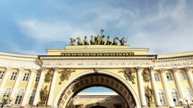Arches of the General Staff building, St. Petersburg, Russia — Stock Video