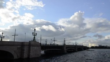 St. Petersburg, Troitsky Bridge — Stock Video