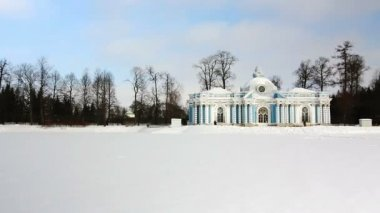 Panorama of Grotto Pavilion in Pushkin city, St. Petersburg, Russia — Stock Video