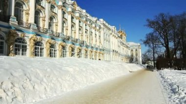 ZOOM of Catherine Palace in Pushkin city, St. Petersburg, Russia — Stock Video