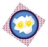 œufs frits — Vecteur