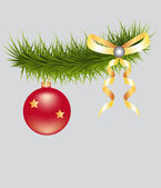 Christmas-tree ball — Stock Vector