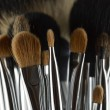 Stock Photo: Professional makeup brushes
