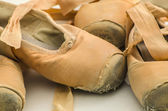 Used ballet shoes — Stock Photo