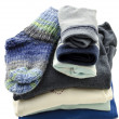 A stack of baby clothes — Stock Photo