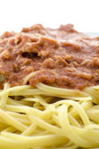 Detail of spaghetti — Foto Stock