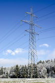 Electric tower in winter — Stock Photo