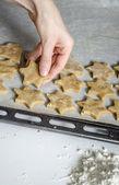 Fazendo biscoitos de natal — Foto Stock