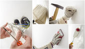 Home renovation collage — Stock Photo