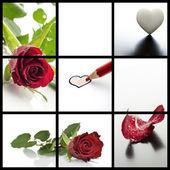 Valentines day collage — Stock Photo