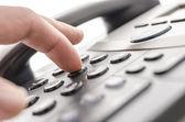 Dettaglio tastiera telefonica — Foto Stock