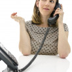Female customer support operator — Stock Photo